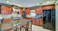 Large eat-in-kitchen with granite counter tops, g