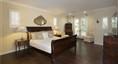 Master bedroom with Juliet doors that open to the